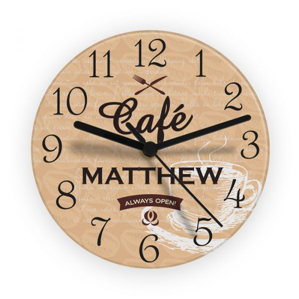 Bistro Style Personalised Wall Clock