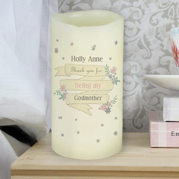 Personalised Battery Operated Candle