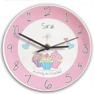 ersonalised Cupcake Wall Clock