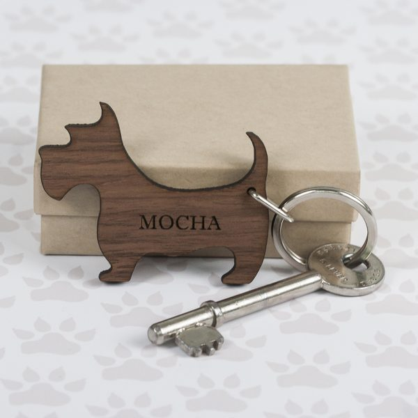 Personalised Dog Shaped Keyring