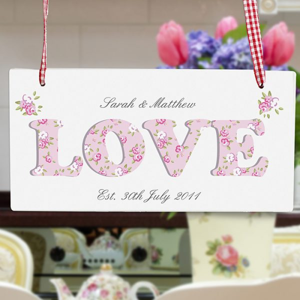 Personalised LOVE Wooden Sign