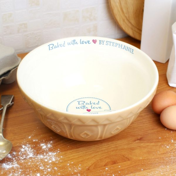 Personalised Mixing Bowl - Baked with Love