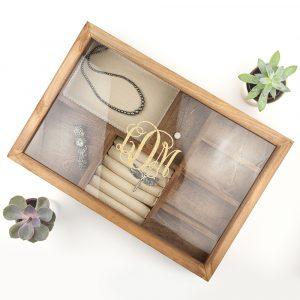 Personalised Monogrammed Jewellery Box