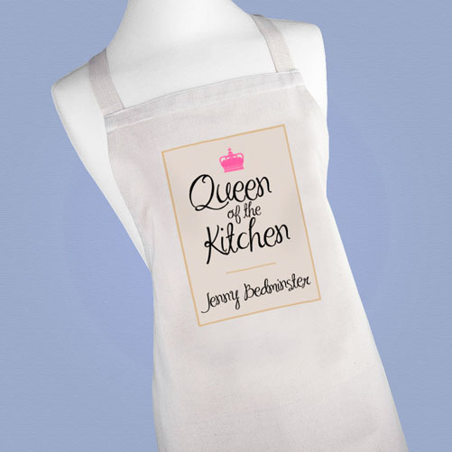 Personalised Queen of the Kitchen Apron