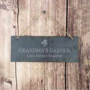 Personalised Slate Flower Sign