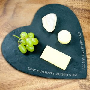 Personalised Slate Heart Cheeseboard