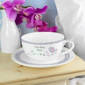 Personalised Teacup - Floral Birds