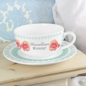 Personalised Teacup - Vintage Rose