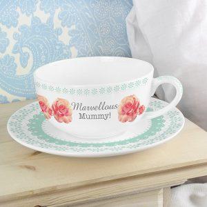 Personalised Teacup - Vintage Rose