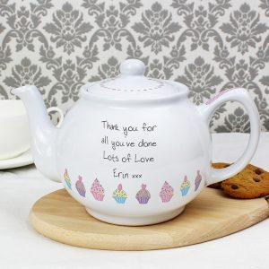 Personalised Teapot - Cupcake Design