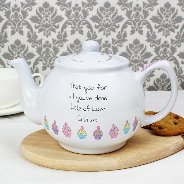 Personalised Teapot - Cupcake Design
