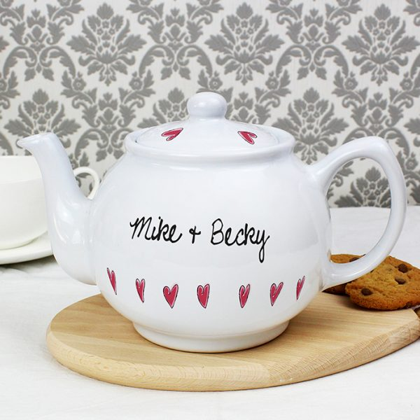 Personalised Teapot - Hearts