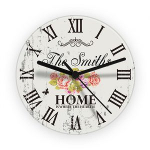 Shabby Chic Style Personalised Wall Clock
