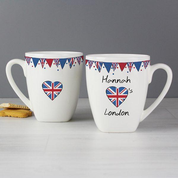 Union Jack Latte Mug