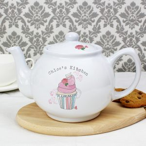 Vintage Cupcake Personalised Teapot