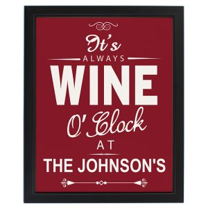 Wine O'Clock Personalised Framed Print