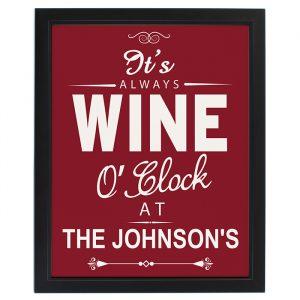 Wine O'Clock Personalised Framed Print