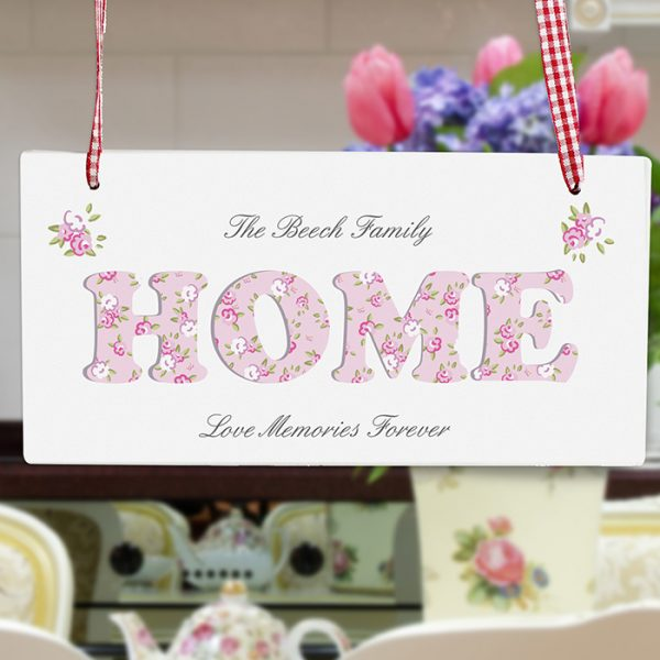 Wooden home Sign with Personalised Message