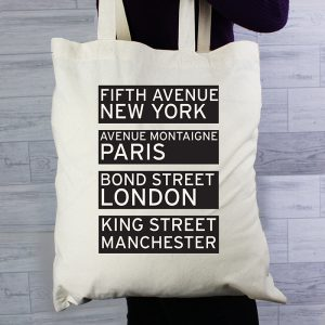 Personalised Destinations Cotton Shopping Bag