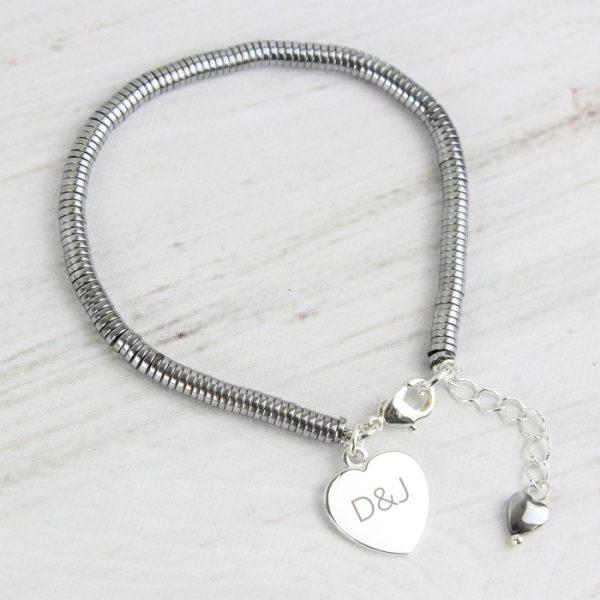Personalised Hematite Bracelet
