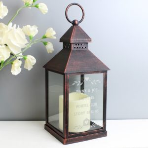 Personalised Rustic LED Lantern