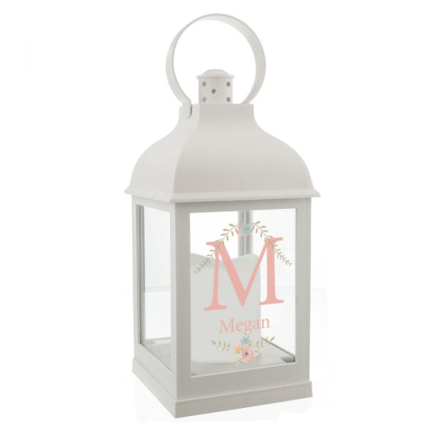 Personalised Lantern - White Floral Bouquet