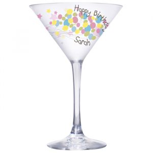 Personalised Cocktail Martini Glass