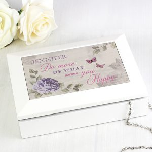 Personalised Jewellery Box - Secret Garden