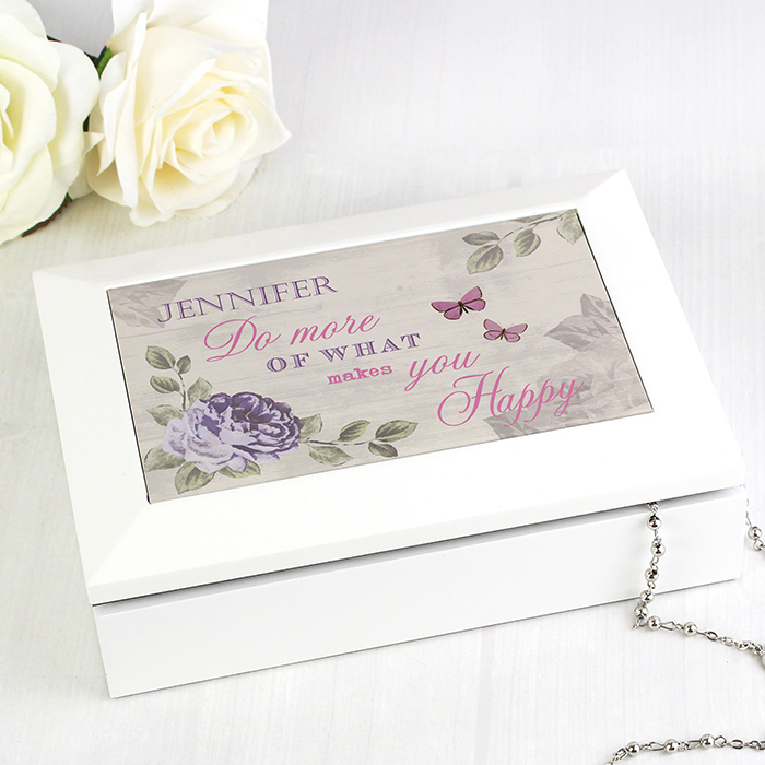 Personalised Jewellery Box Secret Garden