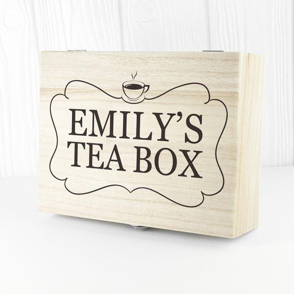 Personalised Tea Box - Name