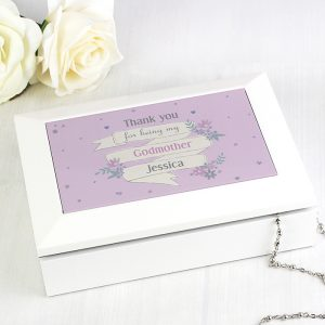 Personalised Wooden Jewellery Box - Garden Bloom