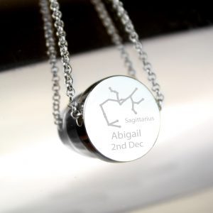 Personalised Sagittarius Zodiac Star Sign Necklace