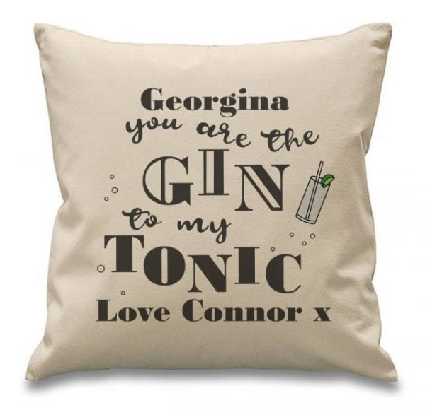Gin to my tonic Personalised Cushion