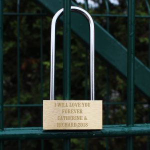 Personalised Love Padlock