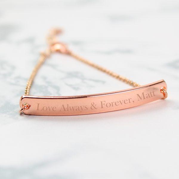 Personalised Rose Gold ID Bracelet