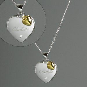 Personalised Silver Heart Locket