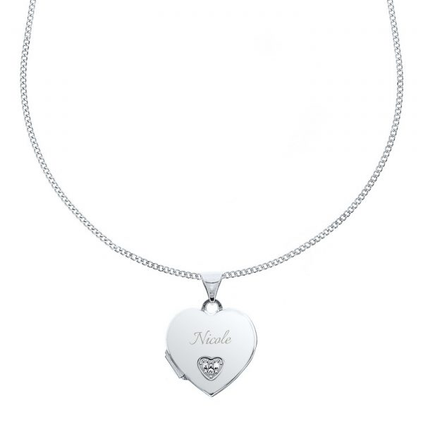 Personalised Heart Locket Necklace