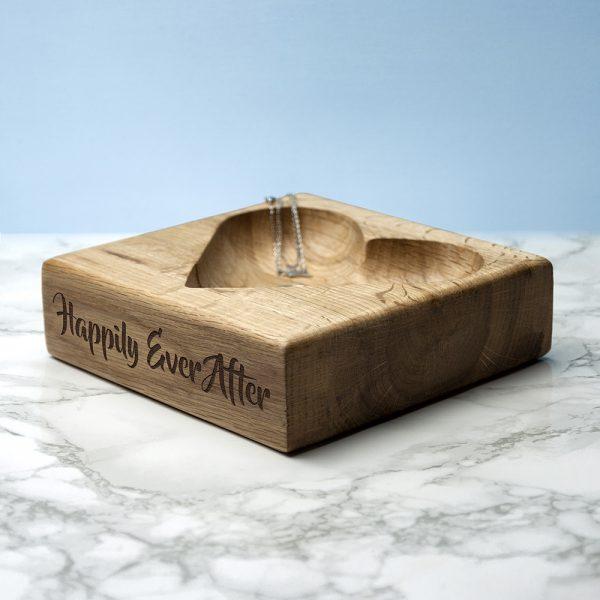 Personalised Wooden Heart Trinket Dish