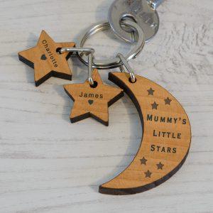 Little Stars Wooden Keychain