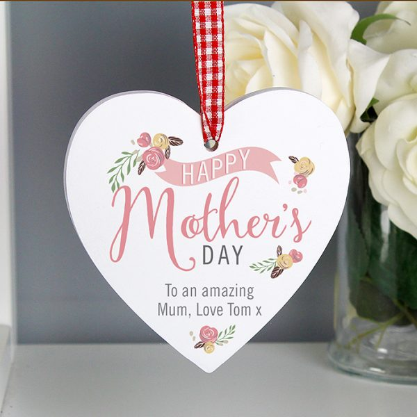 Mother's Day Personalised Wooden Heart