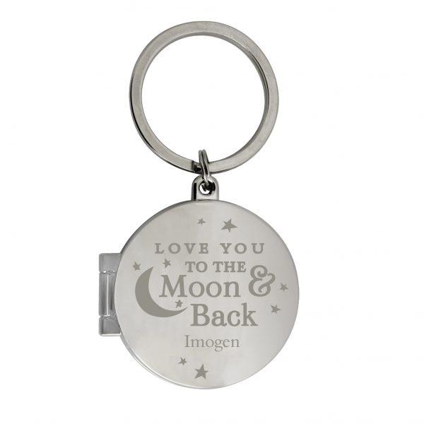 Moon & Back Personalised Keyring