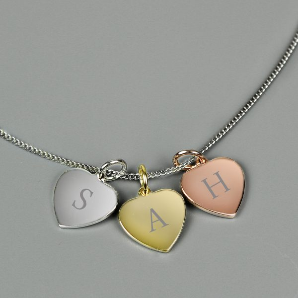 Personalised 3 Hearts Necklace