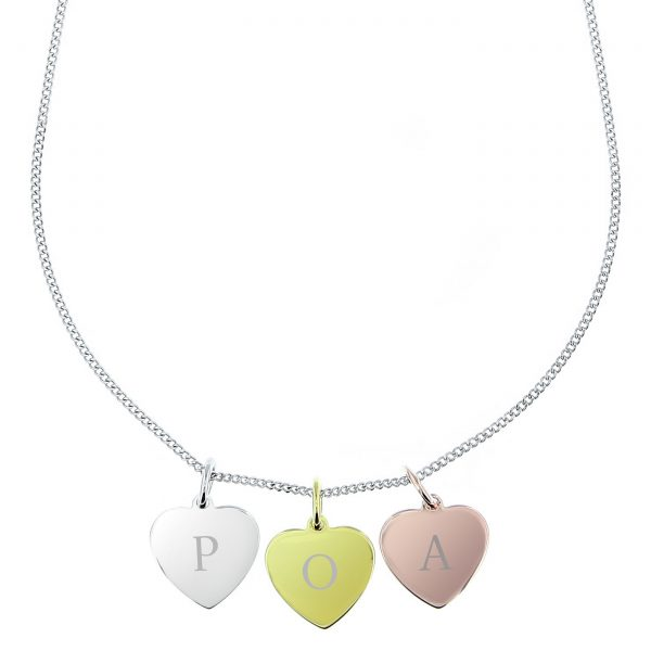 3 Hearts Personalised Necklace