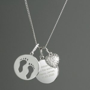 Personalised Footprints Necklace