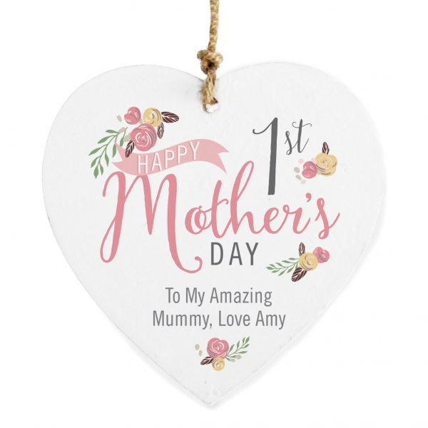1st Mother's Day Hanging Heart