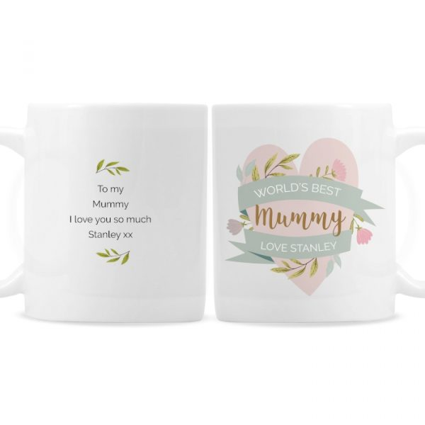 Personalised Floral Mother's Day Mug
