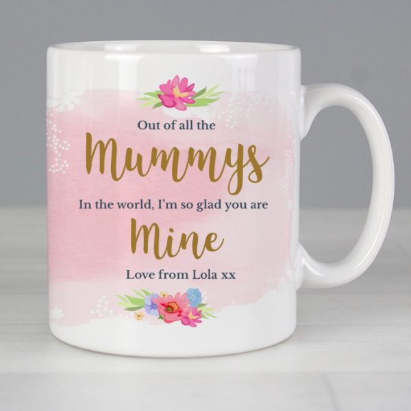 Personalised Mother's Day Mug - Floral Watercolour