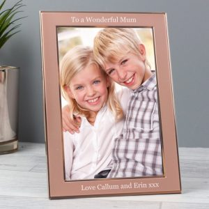 Rose Gold Personalised Photo Frame