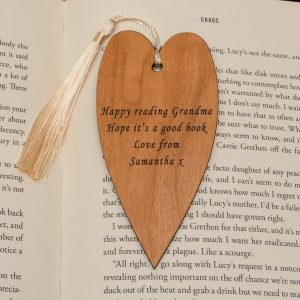 Personalised Heart Wooden Bookmark