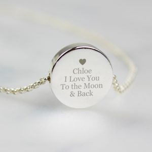 Personalised Necklace - Disc Heart